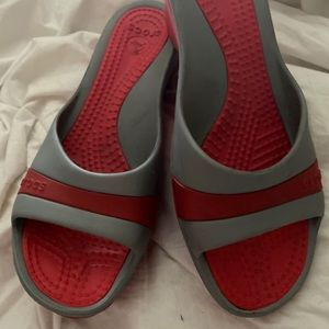 Crocs wedge sandals size 10